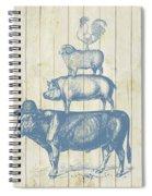 Country Farm Friends Spiral Notebook