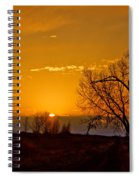Country Golden Sunrise Spiral Notebook