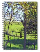Country Green Spiral Notebook