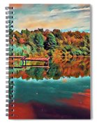 Country Lake Spiral Notebook