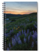 Country Meadow Sunset Spiral Notebook