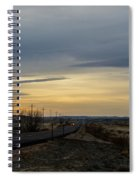 Country Morning School Bus Spiral Notebook