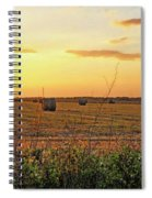 Country Pasture At Sunset Spiral Notebook