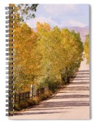 Country Road Autumn Fall Foliage View Of The Twin Peaks Spiral Notebook