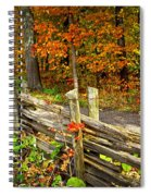 Country Road In Autumn Forest Spiral Notebook