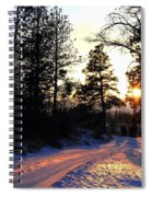 Country Road Sunset Spiral Notebook