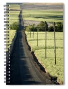 Country Road, Wheat Fields Spiral Notebook