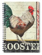 Country Rooster 1 Spiral Notebook