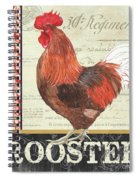 Country Rooster 2 Spiral Notebook