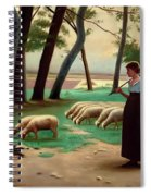 Country Shepherdess  Spiral Notebook