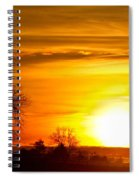 Country Sunrise 1-27-11 Spiral Notebook