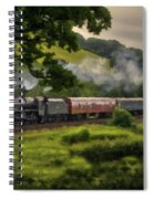 Country Train Ride Spiral Notebook