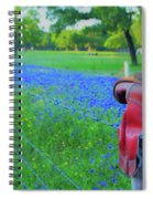 Country Western Blue Bonnets Spiral Notebook