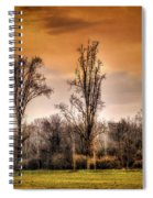Countryscape With Bell Tower Spiral Notebook