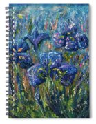 Countryside Irises Oil Painting With Palette Knife Spiral Notebook