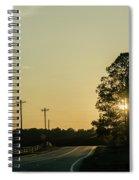 Countryside Sunset Spiral Notebook