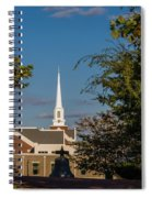 County Courthouse Bell And Church Spire Spiral Notebook