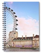 County Hall And London Eye Spiral Notebook