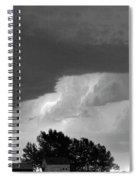 County Line Northern Colorado Lightning Storm Bw Spiral Notebook