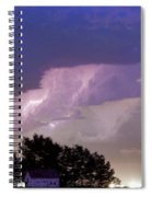 County Line Northern Colorado Lightning Storm Cropped Spiral Notebook