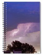 County Line Northern Colorado Lightning Storm Spiral Notebook