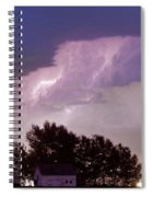 County Line Northern Colorado Lightning Storm Panorama Spiral Notebook