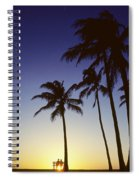 Couple And Sunset Palms Spiral Notebook