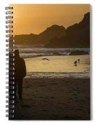 Couple At Harris Beach 0197 Spiral Notebook