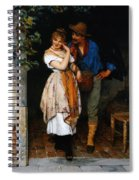 Couple Courting Spiral Notebook