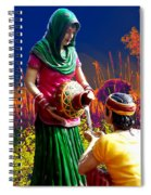Couple Moon And Water Spiral Notebook