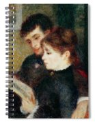 Couple Reading Spiral Notebook