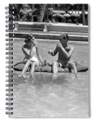 Couple Relaxing In Pool, C.1930-40s Spiral Notebook