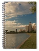 Couple Rowing In Chicago Spiral Notebook