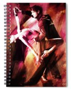 Couple Tango Art Spiral Notebook