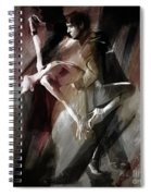 Couple Tango Dance  Spiral Notebook