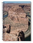 Couple Viewing Horseshoe Bend High Up Edge  Spiral Notebook