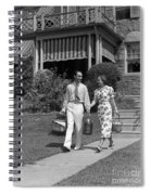 Couple Walking Out Of House, C.1930s Spiral Notebook