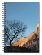 Court Of The Patriarchs Sunrise Zion National Park Spiral Notebook