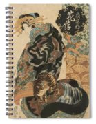Courtesan Hanaogi From The Ogi House 1825 Spiral Notebook