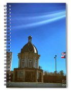 Courthouse And Flags Spiral Notebook