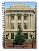 Courthouse At Christmas Spiral Notebook