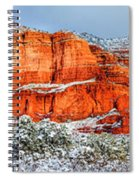 Courthouse Butte And Bell Rock Under Snow Spiral Notebook