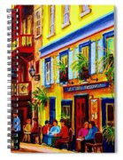 Courtyard Cafes Spiral Notebook