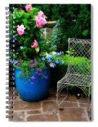 Courtyard Chair Spiral Notebook