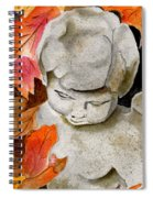 Courtyard Cherub Spiral Notebook