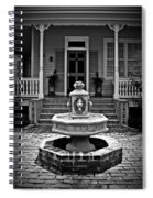 Courtyard Fountain Spiral Notebook