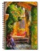 Courtyard In Cavtat Spiral Notebook