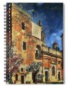 Courtyard, Mellieha, Malta Spiral Notebook
