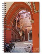 Courtyard Of Basel Town Hall Spiral Notebook