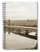 Very Long Covered Bridge Over A River Spiral Notebook